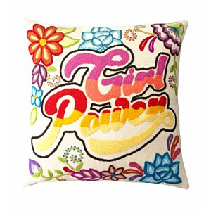"Cushion cover with embrodery ""Girl Power"""