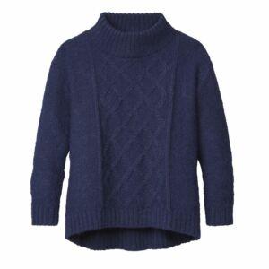 Alpaka-Pullover mit Stehkragen