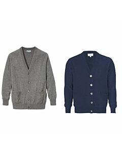 Herren Kaschmirjacke, marineblau oder grau