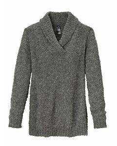 Bouclé-Pullover mit Schalkragen