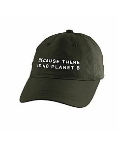 """Cap  """"Because there is no planet B"""", dunkelgrün"""