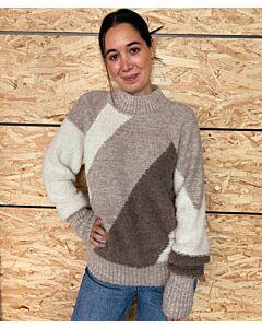 Handgestrickter Alpaka-Pullover