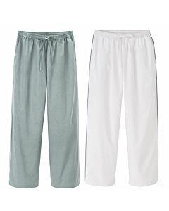 Pyjama Hose, grau oder weiß