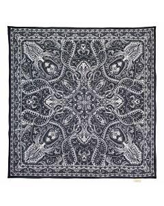 Viereckstuch, schwarz-weiß print