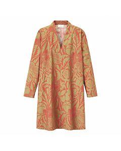 Kleid mit Blätterprint