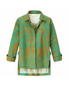 Bluse mit Blätterprint