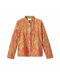 Kurze Jacke mit Blätterprint