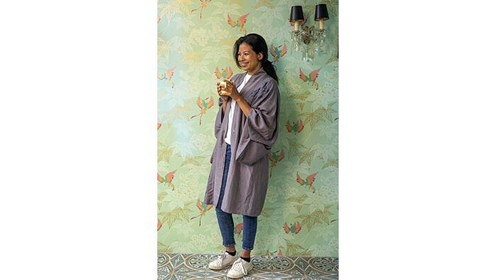 Kimono mit Koiprint