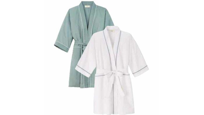 Kimono, grau oder weiß