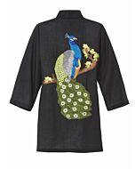 Kimono mit Pfauenstickerei