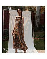 Neckholder-Kleid, gemustert