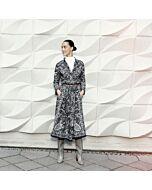 Bluse 3/4 Ärmel, schwarz-weiß print