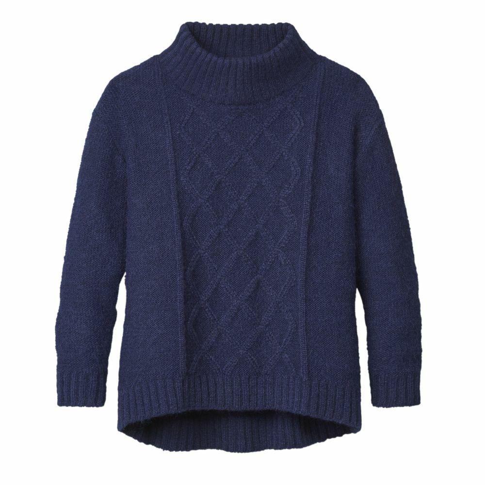 Alpaka Pullover mit Stehkragen